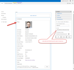 SharePoint Contact Details Photo