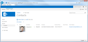 SharePoint Contacts with Photo
