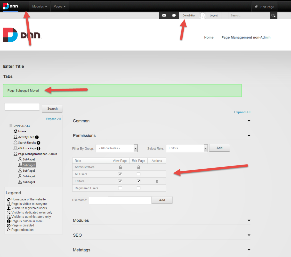 DNN Page Management for Non-Admins 2