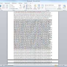 Scrolling Issue in Word 2010